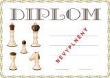 Šachy diplom A4 č.5