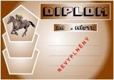 Koně diplom A4 č.2