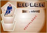 Hokej diplom A4 č.16