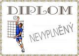 Volejbal diplom A4 č.7