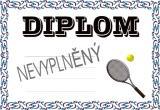Tenis diplom A4 č.46
