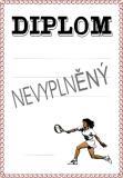 Tenis diplom A4 č.47