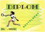 Tenis diplom A4 č.66
