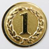 MINI emblém A11 č.67-ZLATÝ