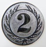 MINI emblém A1 č.106-STŘÍBRNÝ