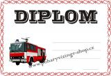 Hasiči diplom A4 č.4
