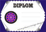Šipky diplom A4 č.9