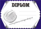 Volejbal diplom A4 č.24