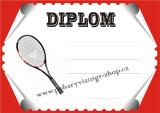 Tenis diplom A4 č.76