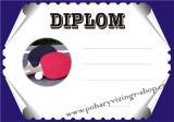 Ping pong diplom A4 č.18