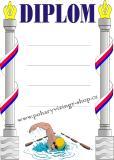 Plavání diplom A4 č.2