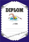 Plavání diplom A4 č.8
