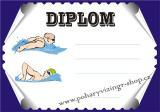 Plavání diplom A4 č.10