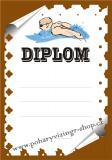 Plavání diplom A4 č.11