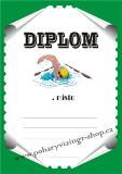 Plavání diplom A4 č.14