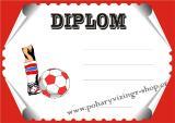 Fotbal diplom A4 č.28