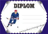 Hokej diplom A4 č.37