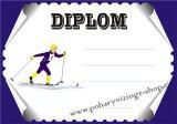 Lyžování diplom A4 č.19