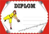 Baseball diplom A4 č.11