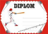 Baseball diplom A4 č.12