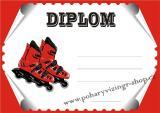 Kolečkové brusle diplom A4 č.4