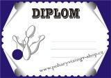 Kuželky diplom A4 č.6