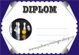 Kuželky diplom A4 č.9