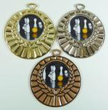 Kuželky medaile D28B-L215