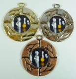 Kuželky medaile D28C-L215
