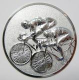 Cyklistika MAXI emblém A12č.16-stříbro