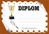 Squash diplom A4 č.5