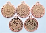 Medaile s pořadím DI3206-169-73