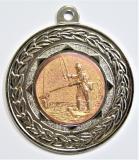 "Rybáři medaile ""ZA ÚČAST"" D17A-A80-stříbro"