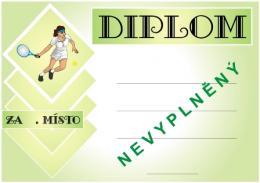 Tenis diplom A4 č.54 - zvětšit obrázek