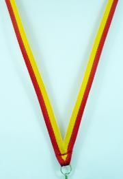 Stuha žluto-červená - ÚZKÁ - zvětšit obrázek