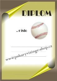 Baseball diplom A4 č.8 - zvětšit obrázek