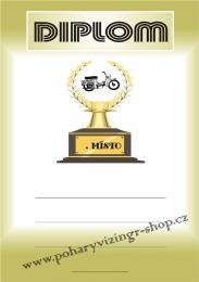 Motorky diplom A4 č.72 - zvětšit obrázek