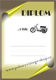 Motorky diplom A4 č.76 - zvětšit obrázek