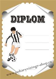 Fotbal diplom A4 č.35 - zvětšit obrázek