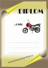 Motorky diplom A4 č.82 - zvětšit obrázek