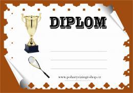 Squash diplom A4 č.5 - zvětšit obrázek
